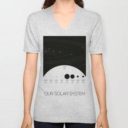 NASA-planet-asteroid poster-solar system Unisex V-Neck