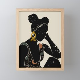 Black Hair No. 6 Framed Mini Art Print