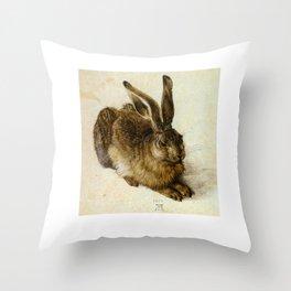 Vintage Rabbit   Throw Pillow