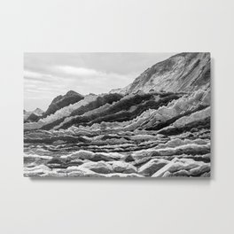 Stone Waves Metal Print