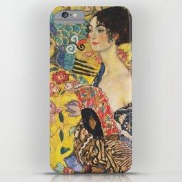 Gustav Klimt Lady With Fan  Art Nouveau Painting iPhone Case