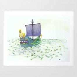 The Sea of Lilies Art Print