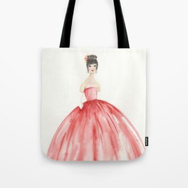 The Red Ball Gown Tote Bag