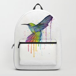 Hummingbird Rainbow Watercolor Backpack