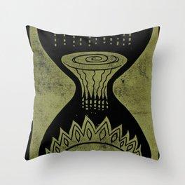 Healing (Black) Throw Pillow