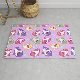Baby Shark Doo Doo Family - Pink Pastel Version Print Rug