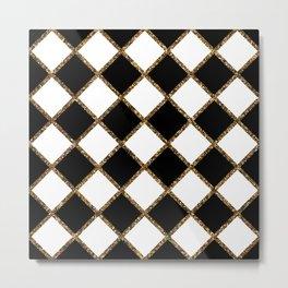 Geometric ornament gold seamless pattern Metal Print