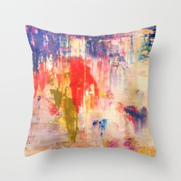 planetary landscape Throw Pillow