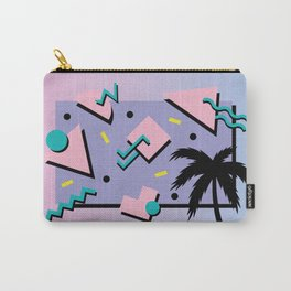 Memphis Pattern 25 - Miami Vice / 80s Retro / Palm Tree Carry-All Pouch