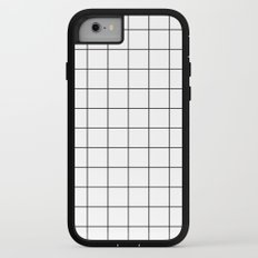 Grid Simple Line White Minimalistic iPhone 7 Adventure Case