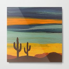 Saguaro Sunset Metal Print