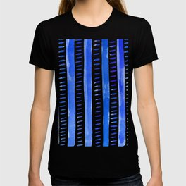 Watercolor lines - blue T-shirt