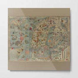 Carta Marina et Description 1539 Metal Print