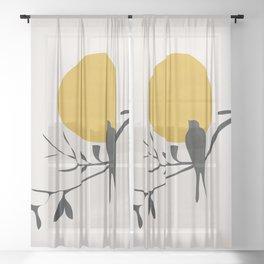 Bird and the Setting Sun Sheer Curtain