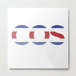 Cos Football Metal Print