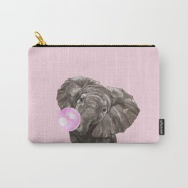 Baby Elephant Blowing Bubble Gum Carry-All Pouch