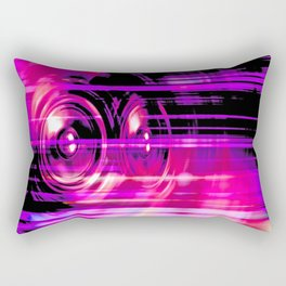 Purple music speakers Rectangular Pillow