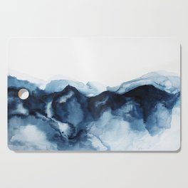 Abstract Indigo Mountains Cutting Board