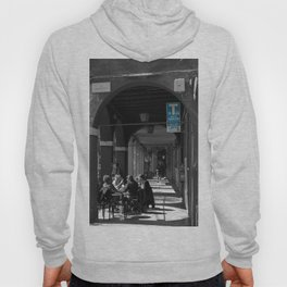 Bologna Tabacchi Blue Street Photography Black and White Hoody