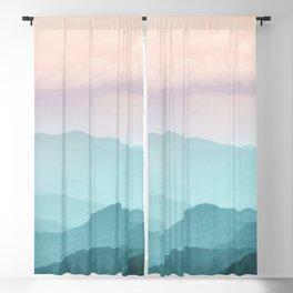 Smoky Mountain National Park Sunset Layers II - Nature Photography Blackout Curtain