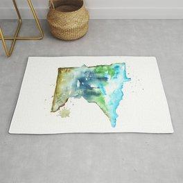 Minnesota Watercolor Map - State Map Art - Watercolor Maps Rug