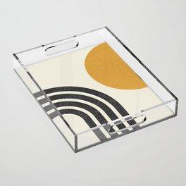 Mid century modern Sun & Rainbow Acrylic Tray
