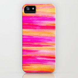 Welcome to Funky Town - Disco Inferno Dance Party Bold Rainbow Stripes Abstract Watercolor Painting iPhone Case