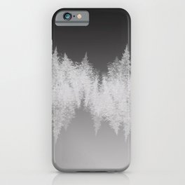 Modern Black Silver & Gray Brushstrokes Gradient iPhone Case