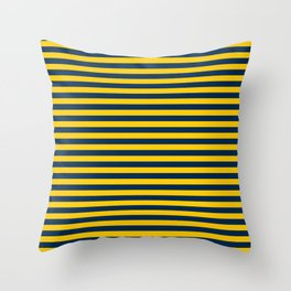 Michigan Team Colors Stripes Throw Pillow