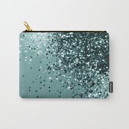 Teal Mermaid Ocean Glitter #1 #shiny #decor #art #society6 Carry-All Pouch