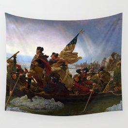 Washington Crossing the Delaware by Emanuel Leutze (1851) Wall Tapestry