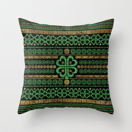 Shamrock Four-leaf clover Ornament Throw Pillow