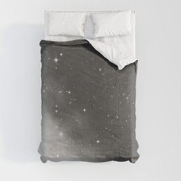 Monochrome Black and White Galaxy Pattern Comforters