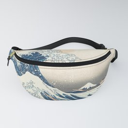 The Great Wave off Kanagawa by Katsushika Hokusai from the series Thirty-six Views of Mount Fuji Fanny Pack