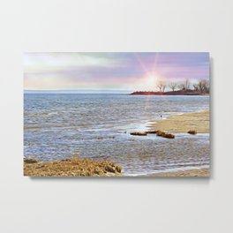 Sunset At The Beach - Tod's Point Metal Print