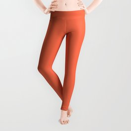 From Crayon Box – Outrageous Orange - Bright Orange Solid Color Leggings