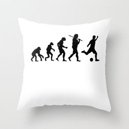 Evolution Soccer Throw Pillow