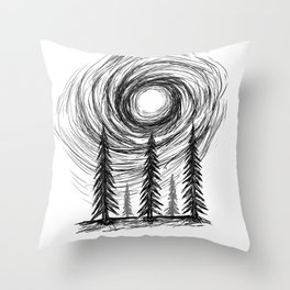 Scratchy Forest  Throw Pillow