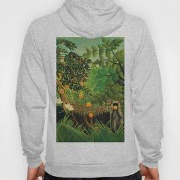 """Henri Rousseau """"Monkeys in the jungle - Exotic landscape"""" Hoody"""