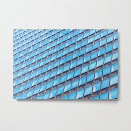 Blue Building Windows  Metal Print