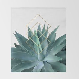 Agave geometrics Throw Blanket