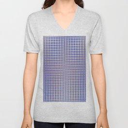 blue square Unisex V-Neck