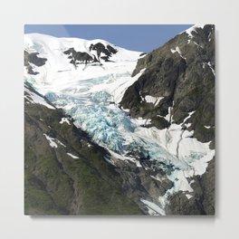 Alaskan Glacier's Prehistoric Animal Shapes in the Snow Metal Print