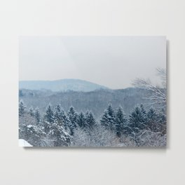 New England Snow Metal Print