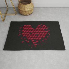 heart-shaped pattern Rug