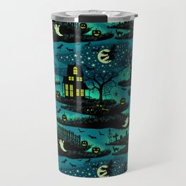 Halloween Night - Fox Fire Green Travel Mug