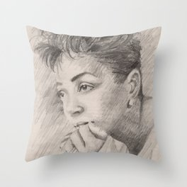 Anita Baker Throw Pillow