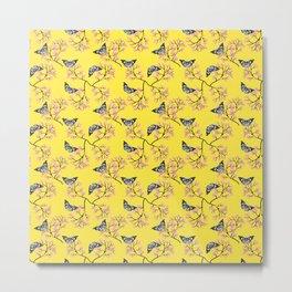 Blossoms & Butterflies (Sunshine) Metal Print