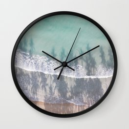 Turquoise water | Tropical travel photography | The Dominican Republic Wall Clock