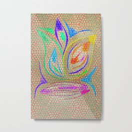 Colorful Lotus flower - uma releitura Metal Print